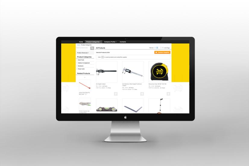东瑞进出口网站设计效果图-2