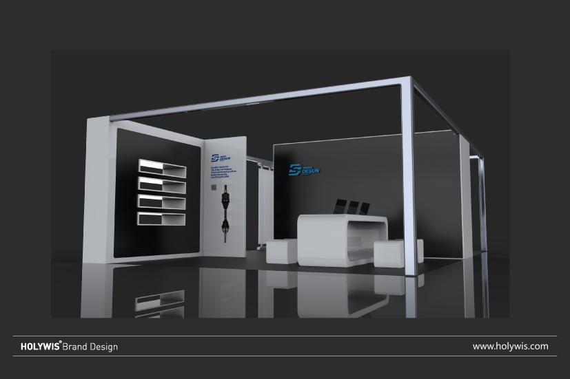 德尚科技展位設計效果圖-3