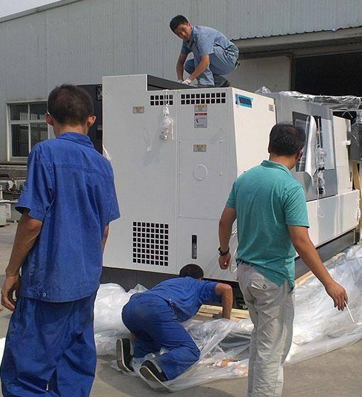 日本进口数控车床设备搬运