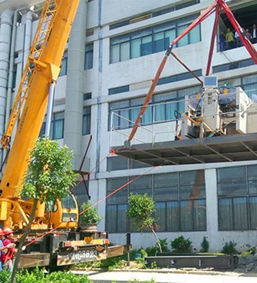 广州精密设备平台吊装上楼