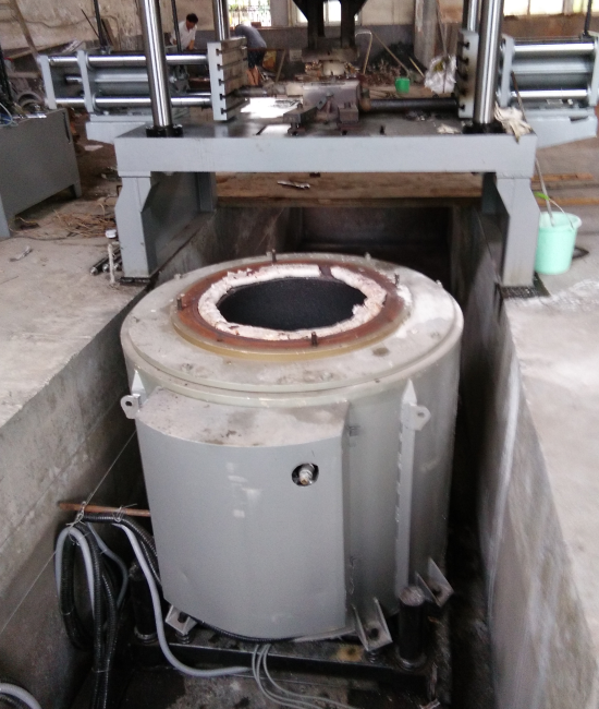低压铸造铝合金溶解电炉
