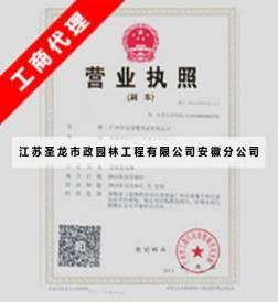 江苏圣龙市政园林工程有限公司安徽分公司