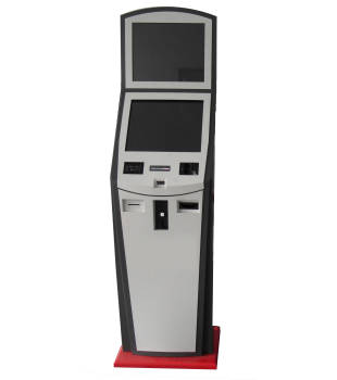 Free-standing Lobby And Dual Screen Bank kiosk