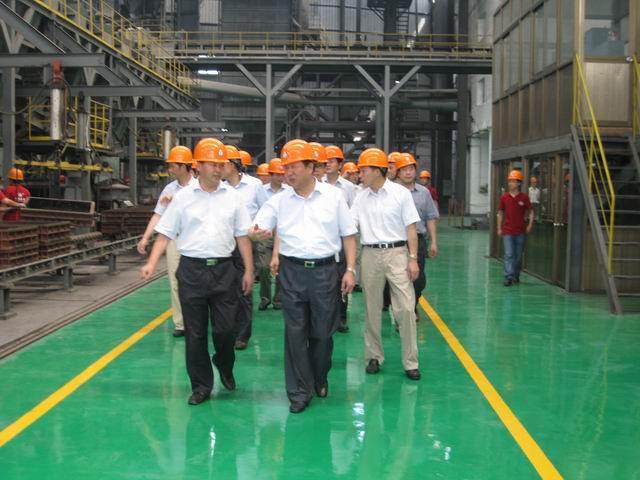 寧波市領導視察寧波浙東精密鑄造公司